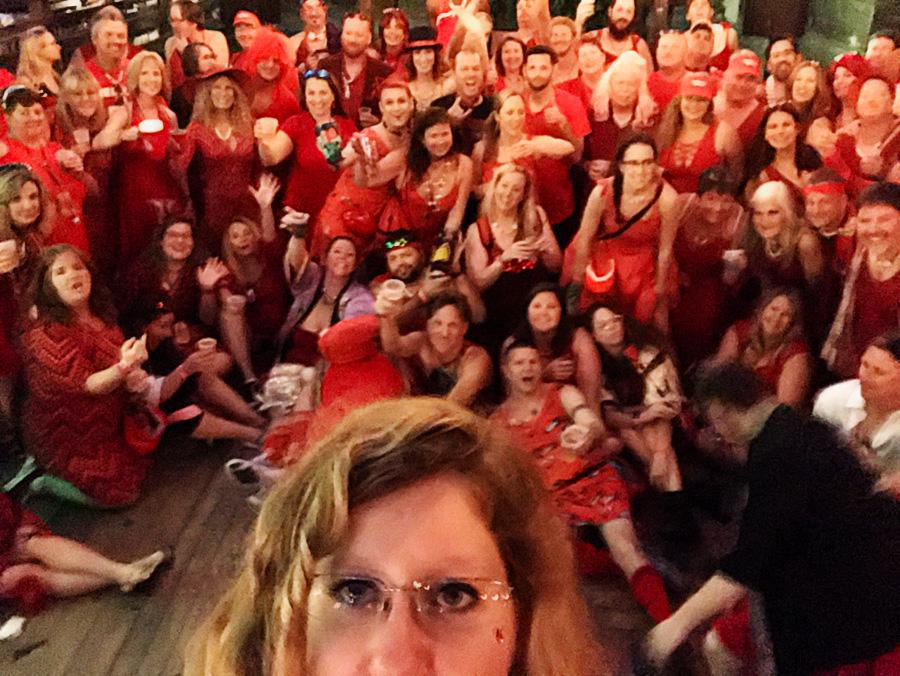 O2H3 Red Dress Pub Crawl 2019