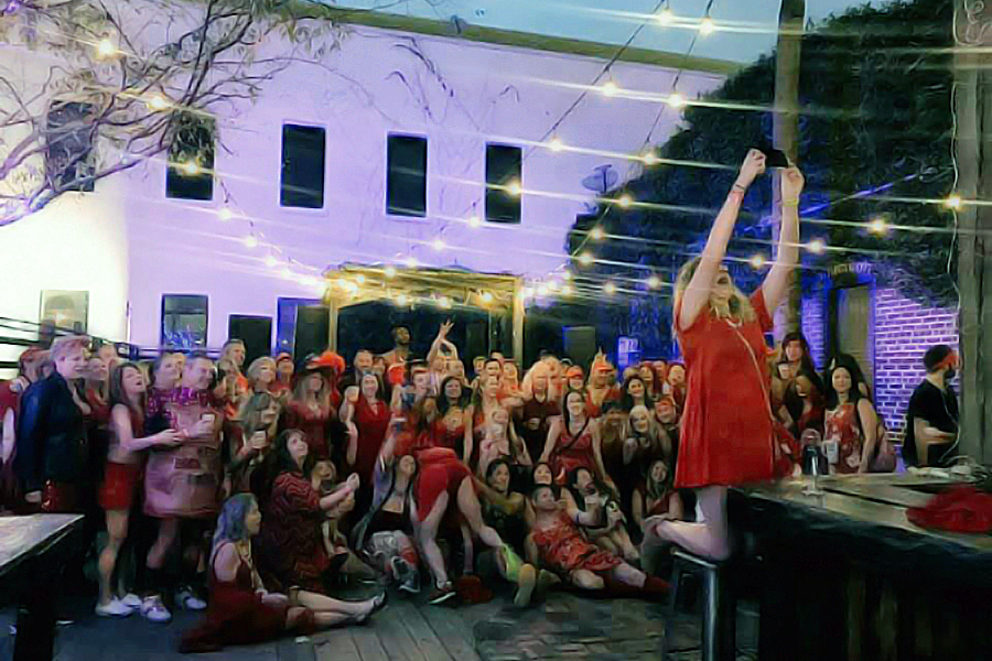 O2H3 Red Dress Pub Crawl 2019